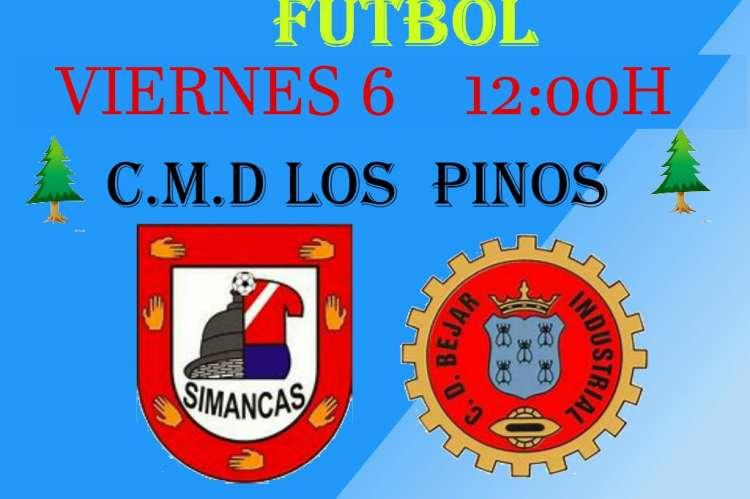 Cartel con los escudos de ambos clubes