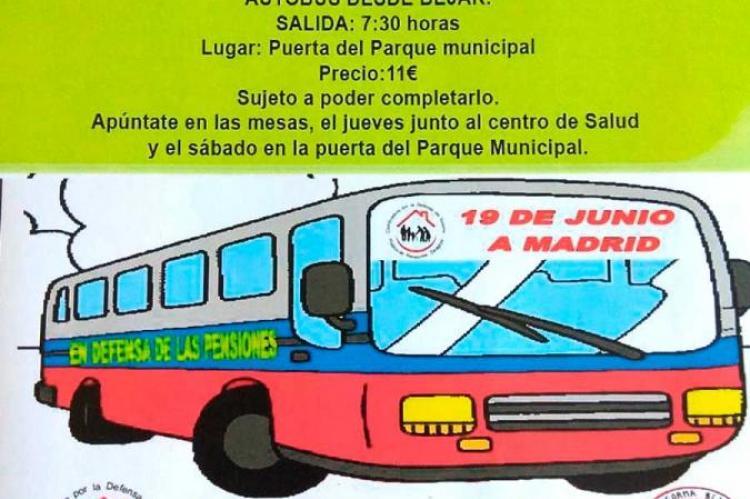 Cartel anunciador de la manifestación en Madrid