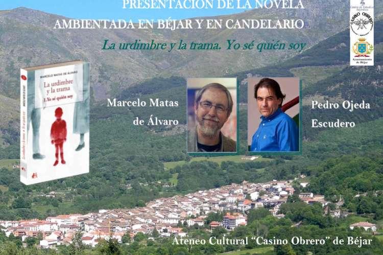 Cartel anunciador del acto de presentación de la novela