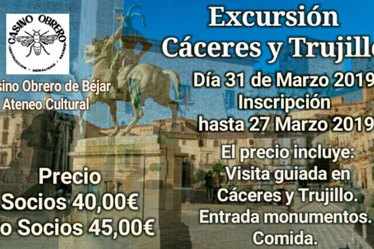 Cartel viaje a Cáceres y Trujillo