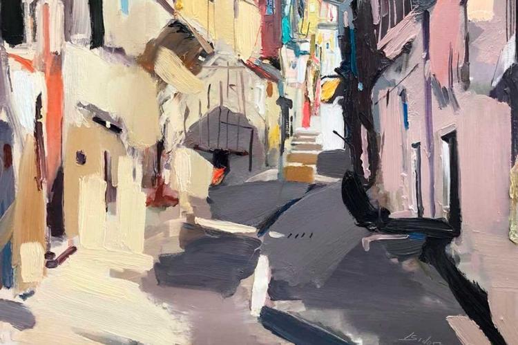 Certamen de Pintura Rápida en Mogarraz
