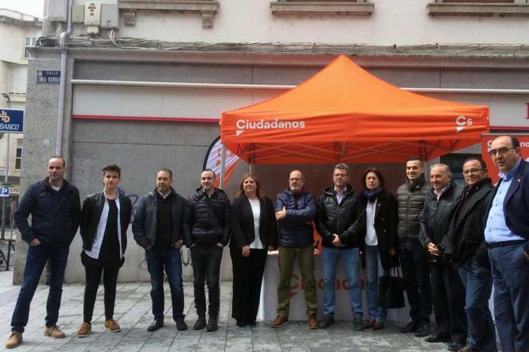 Miembros del partido Ciudadanos en Béjar el pasado mes de abril