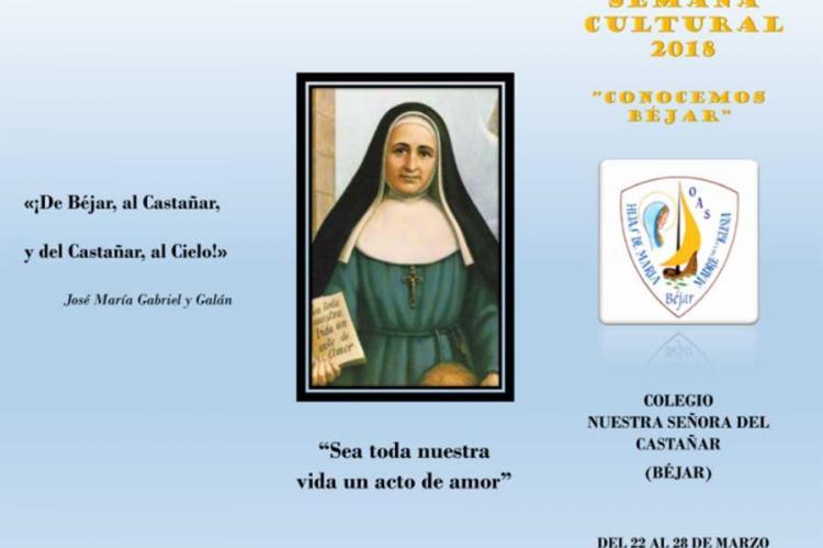 Cartel promocional de la Semana Cultural 2018 en el colegio Nuestra Señora del Castañar (Béjar)