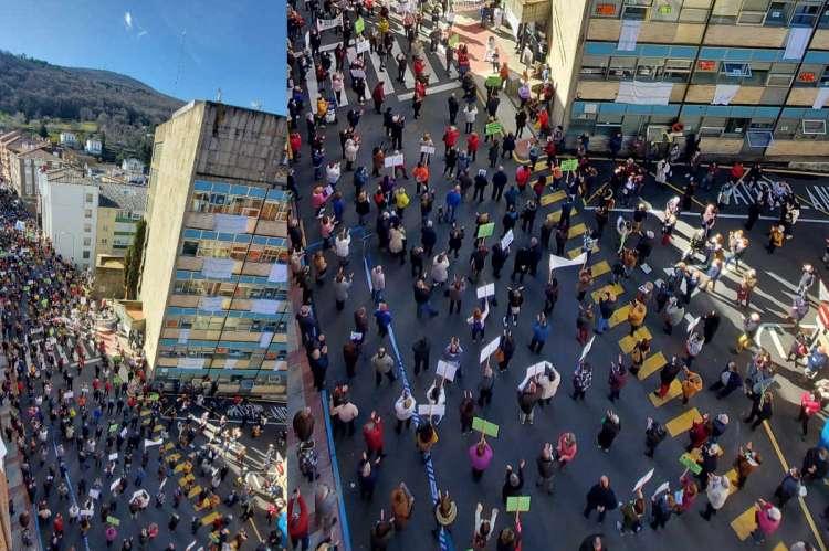La perspectiva muestra la separacion de seguridad entre asistentes. Imagen facilitada por la plataforma