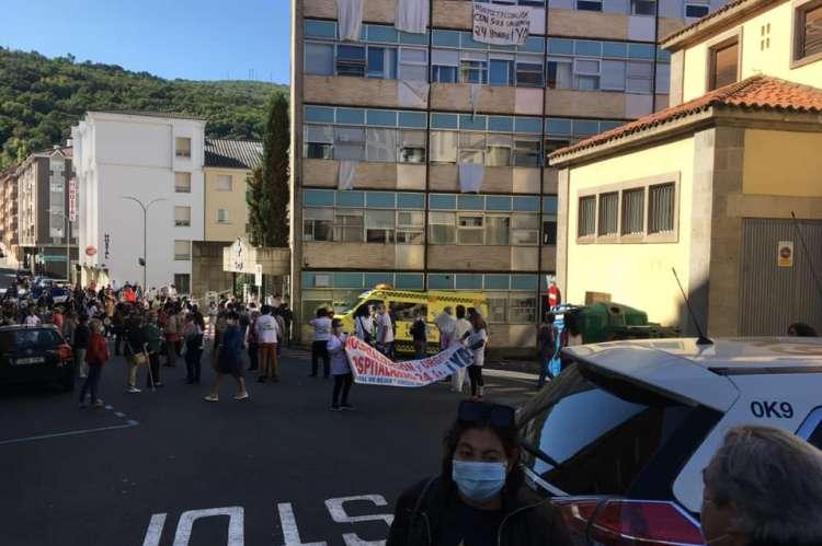 Concentración frente al hospital bejarano