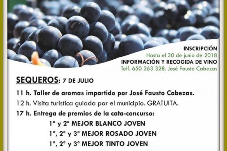 Cartel anunciador de la cata de vinos