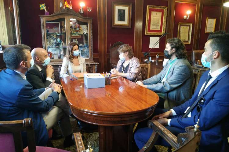 Un momento de la reunión en el Ayuntamiento de Béjar