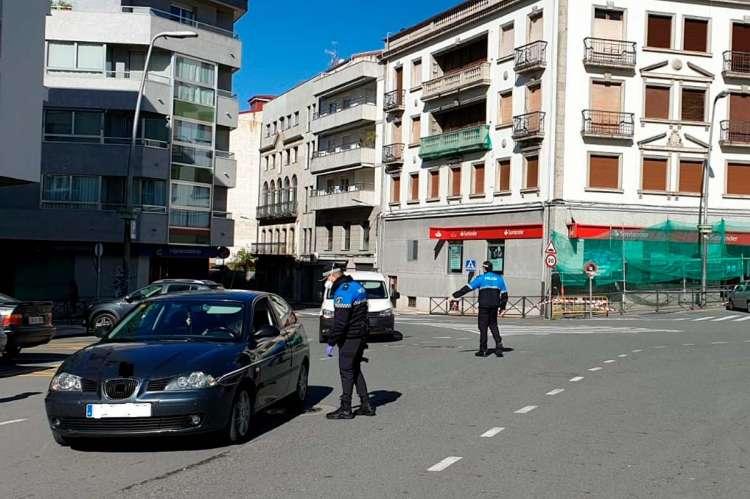 Policía Local de Béjar realizando controles