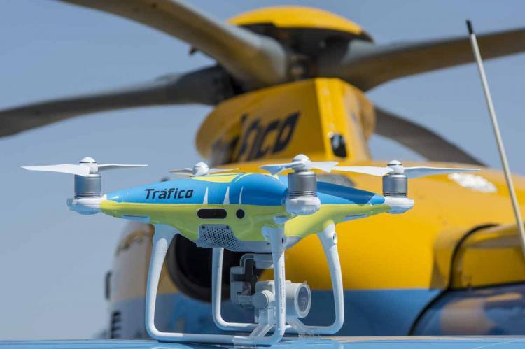 Drone que será utilizado durante el puente del 1 de mayo