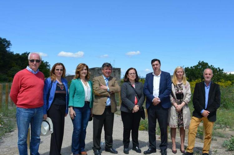 Diputados nacionales del PP visitan el camino natural en Béjar