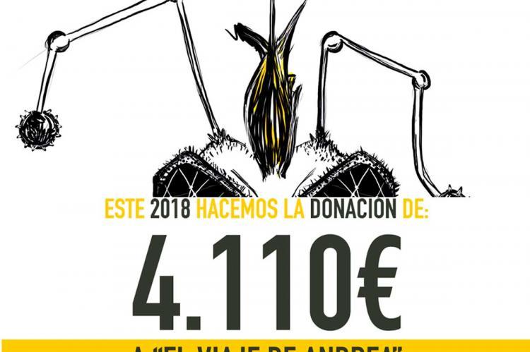 Infografía donación festival Abejarock