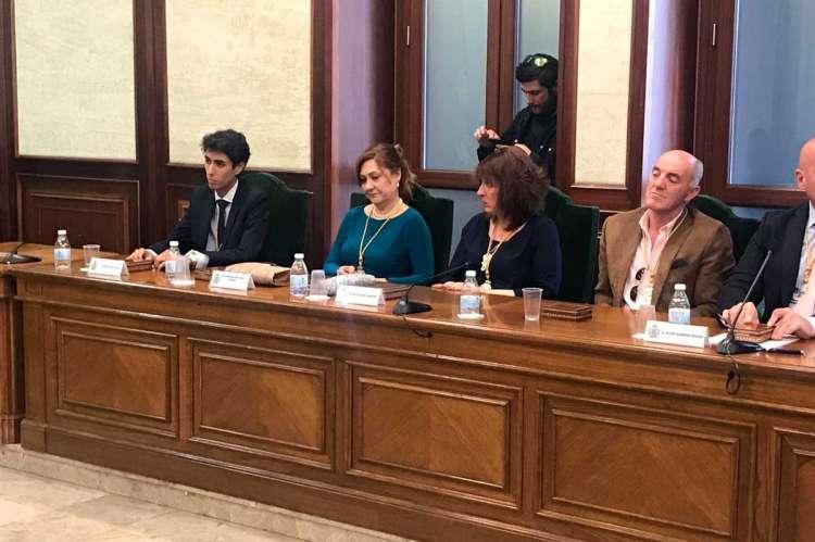 Ediles del Partido Popular sentados en el salón de plenos del Ayuntamiento de Béjar durante la toma de posesión de la corporación municipal