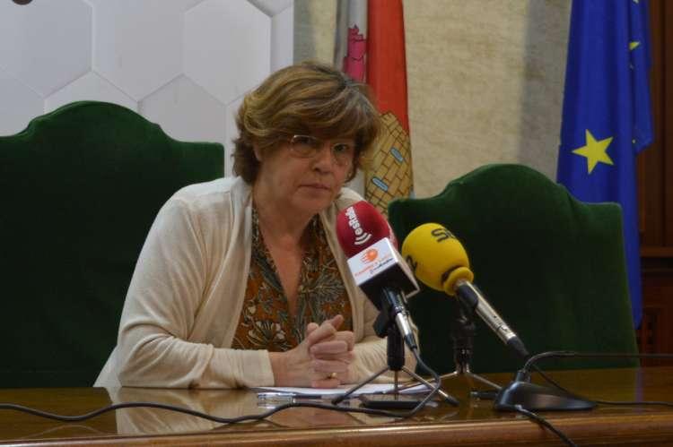 Elena Martín Vázquez en rueda de prensa