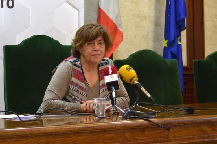 Elena Martín Vázquez durante su comparecencia ante los medios