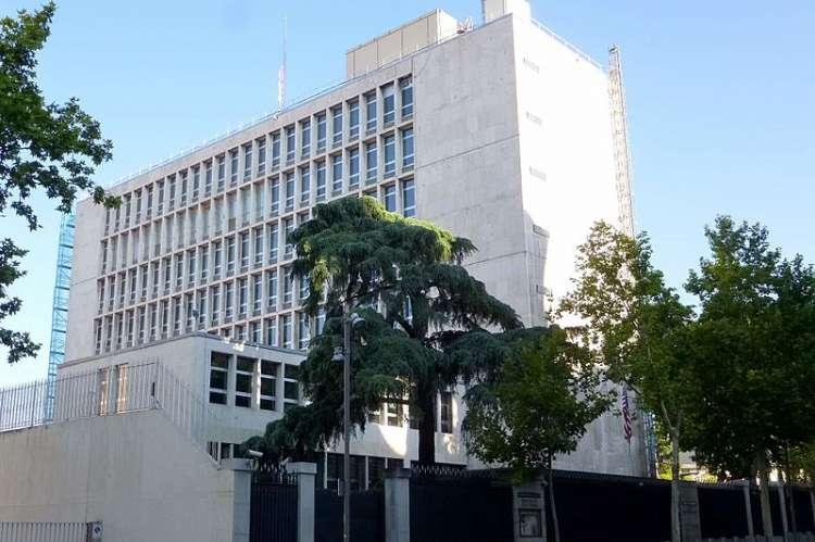 Edificio de la embajada de EEUU en Madrid