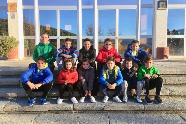 Integrantes de la Escuela de Ciclismo Bejarana