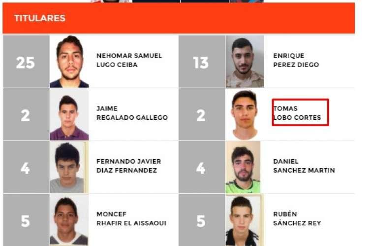 Captura del acta web de la Federación Castellano Leonesa de fútbol