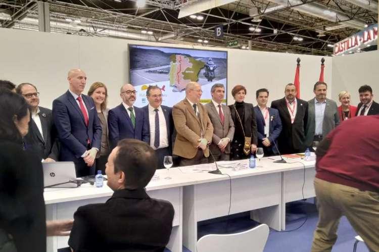 Asistentes a la firma entre España y Portugal