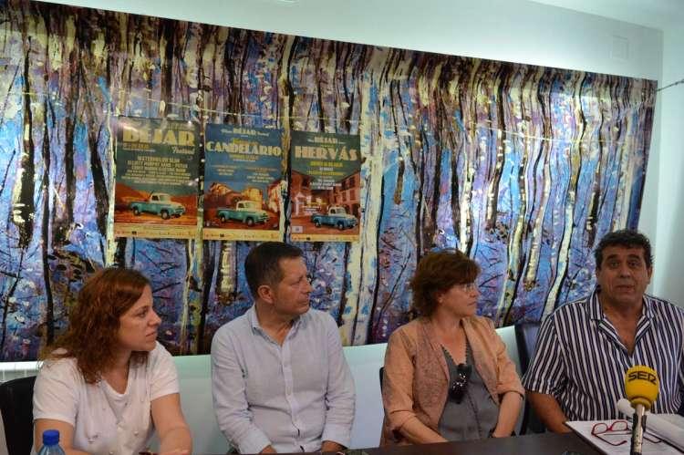 Alcaldes de Hervás , Candelario y Béjar presentan el programa de Blues