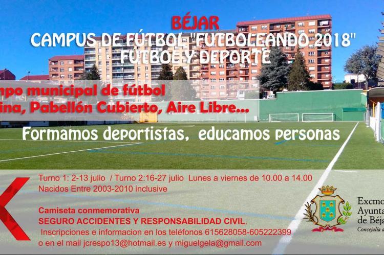 Cartel anunciador del campus Futboleando