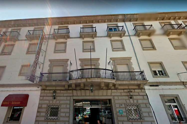 Fachada del Hotel Colon de Béjar uno de los lugares de rodaje