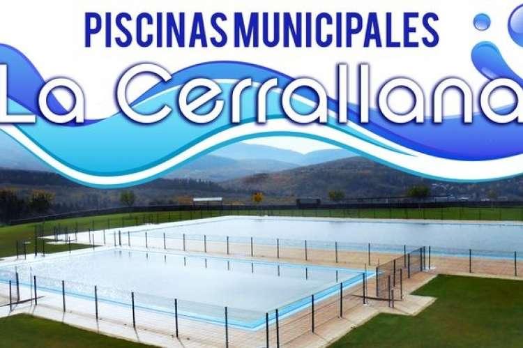 Cartel Piscinas Municipales La Cerrallana