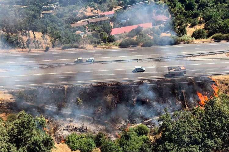 Fotografía aérea de la zona del incendio