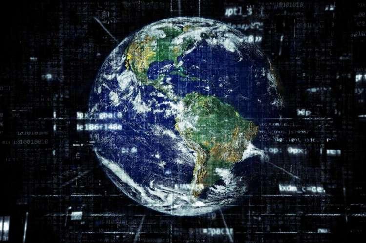 Representación de Internet por medio de una esfera terrestre