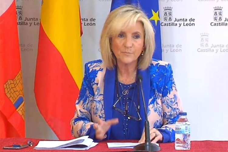 Verónica Casado, durante la rueda de prensa