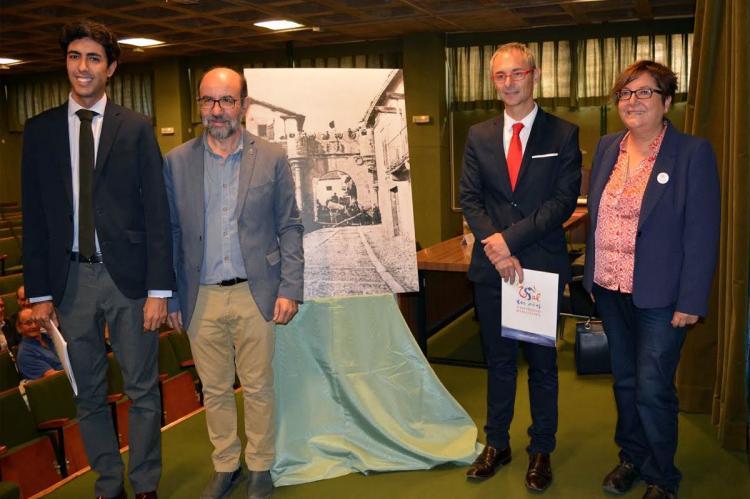 Ángel Orgaz, Javier Ramón Sánchez, Ricardo Rivero y Josefa Montero en la clausura de las jornadas