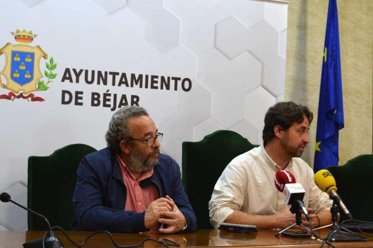 José Luis Rodríguez  Celador y el concejal de Igualdad, Antonio Cámara