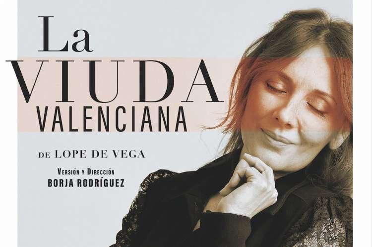 """Cartel de """"La viuda valenciana"""""""