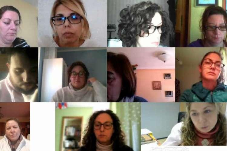 Comunicación virtual entre las participantes de la lanzadera de empleo de Béjar