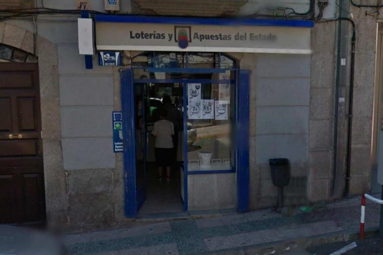 Facha de la administración de lotería de la calle Libertad de Béjar