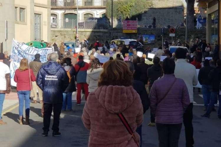 Protestas frente al hospital de Béjar. Archivo