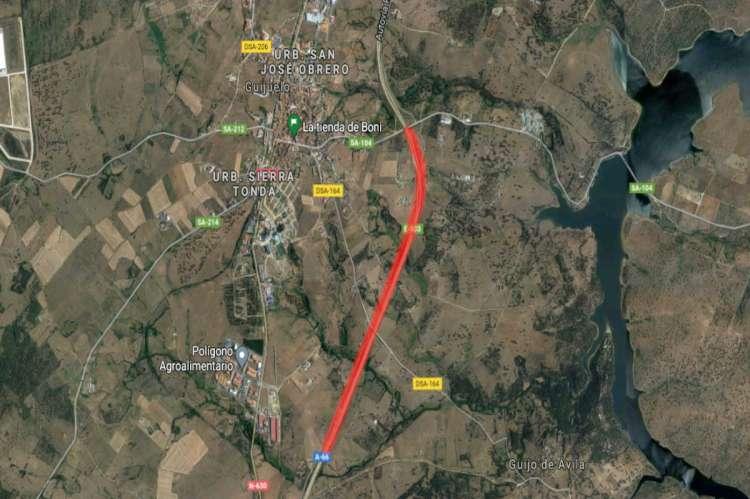 Tramo de la Autovía  A66 afectado por las obras