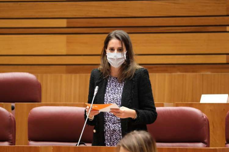 Maria Montero en el pleno de las cortes regionales