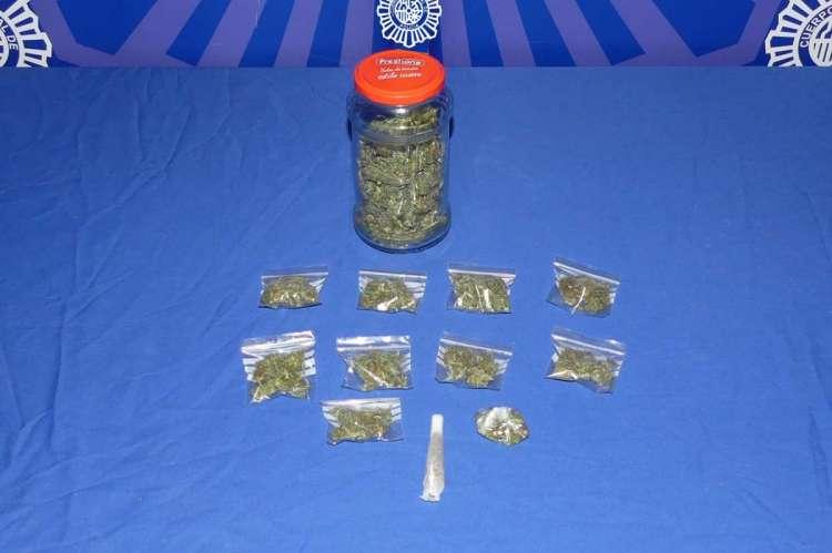 Marihuana Incautada por la Policia Nacional de Salamanca
