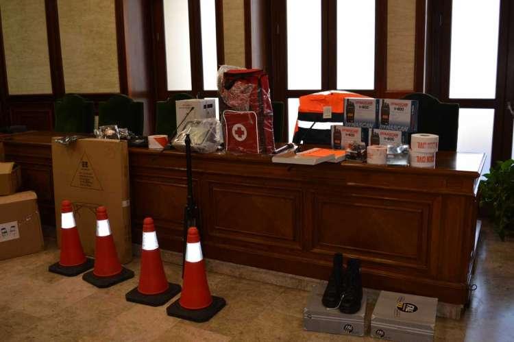 Material entregado a los voluntarios de protección civil de Béjar