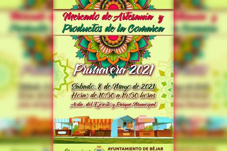 Cartel del Mercado de Artesanía y Productos de la Comarca-Primavera 2021