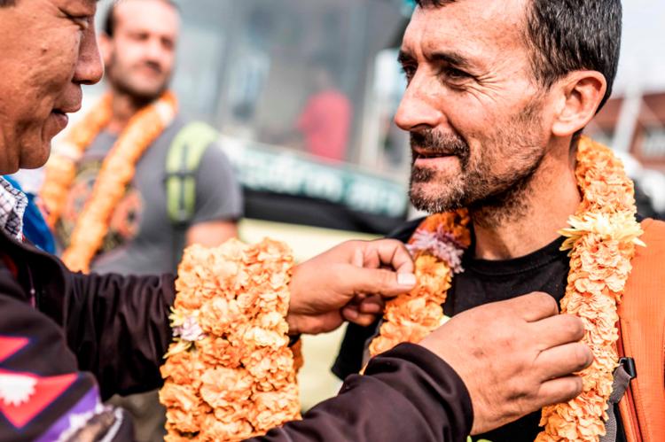Miguel Heras en la Everest Trail Race