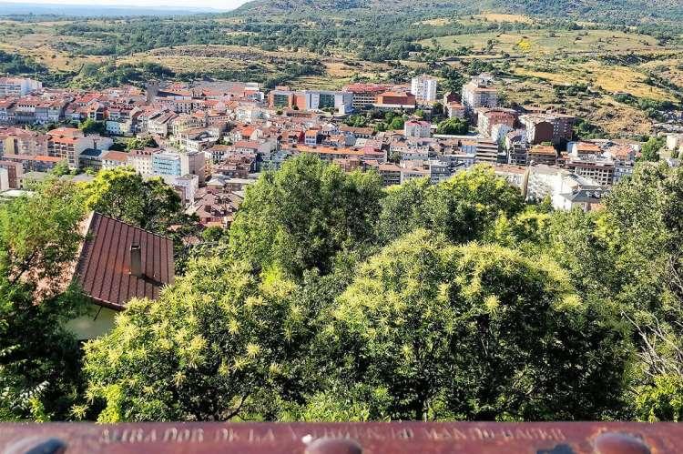 Vista de Béjar desde el Mirador de la Virgen del Castañar