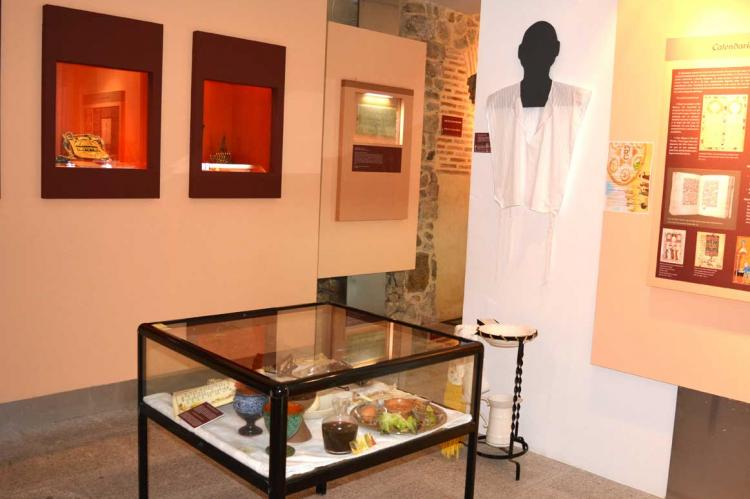 Muestra de objetos de la exposición en el Museo Judío de Béjar
