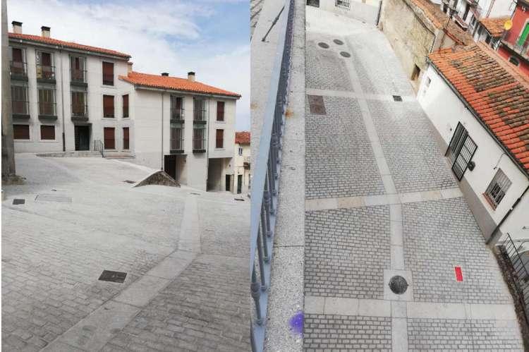 Collage con dos imagenes en la que se muestra el estado actual, tras los trabajos realizados