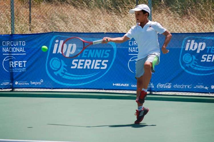 Un jugador del Open de Tenis durante la jornada del martes