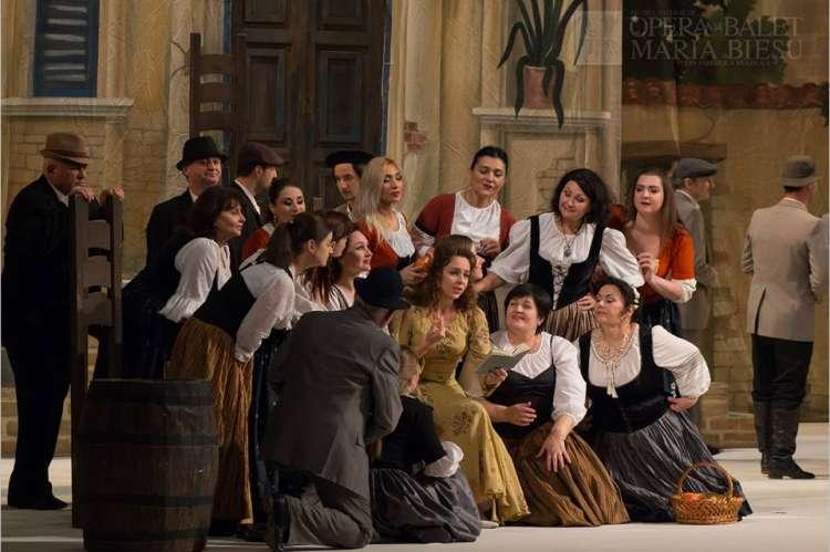 Un momento de la representación de la ópera