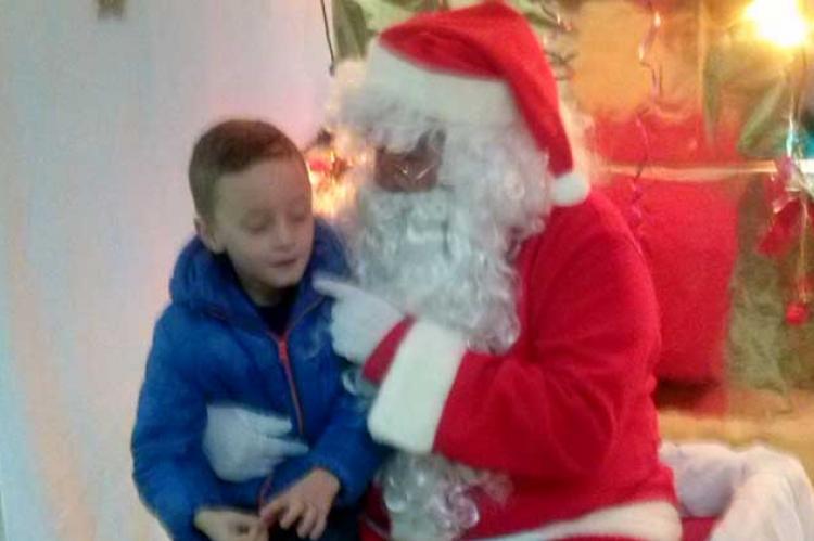 Papá Noel en Los Praos