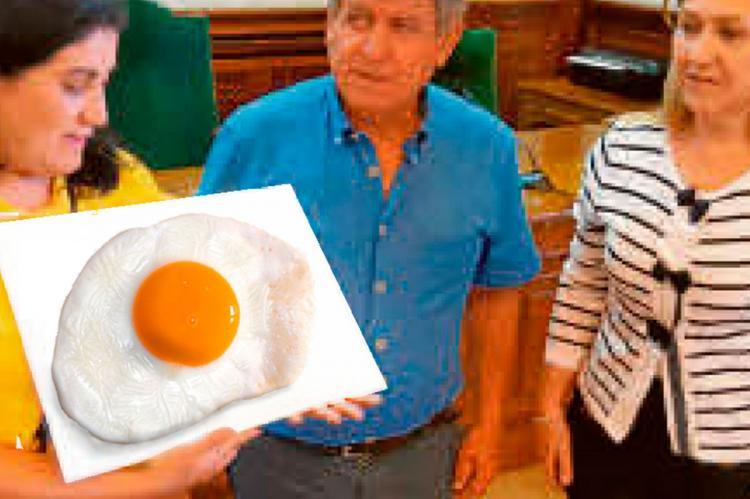 Blanco, Riñones y Pozo junto al cartel de un huevo frito