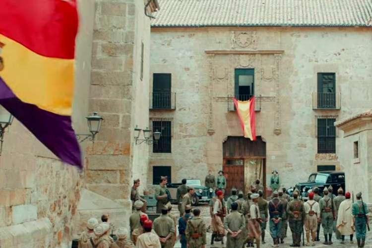 Fotograma de la película Mientras dure la Guerra