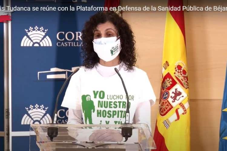 Marisa Díaz  portavoz de la Plataforma en defensa de la Sanidad de Béjar